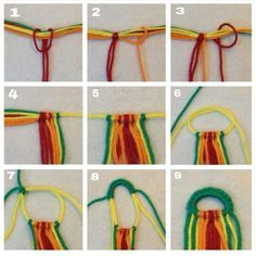 #DIY getting started with the friendship bracelet. This is perfect,have to try it!