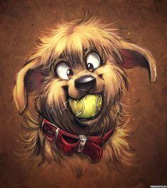 собака арт: 19 тыс изображений найдено в Яндекс.Картинках