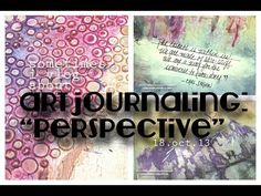 "sometimes i vlog about ""perspective"" art journaling - YouTube"