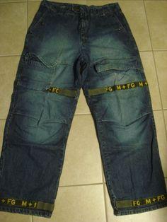 Mens Marithe Francois Girbaud Cargo Blue Jeans 36 X 33 Shuttle Tape Baggy, Loose #MaritheFrancoisGirbaud #BaggyLoose
