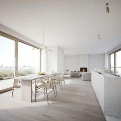 Discover more interior design and home decor inspiration on www. Best Home Interior Design, White Interior Design, Interior Modern, Minimalist Interior, Minimalist Home, Estilo Interior, Interior Minimalista, Dining Room Design, Design Kitchen