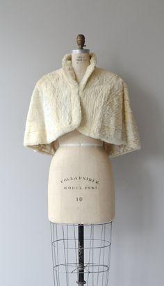 Ermine capelet 1930s fur cape vintage 30s ermine by DearGolden