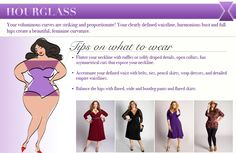DIY How to Dress Your Shape Infographic from IGIGI Good suggestions, but really wear whatever you want to. Life is too short to conform to what you think others want you to look like. Dress to please yourself. Wear what you love. Hourglass Body Shape, Hourglass Figure, Diy Halloween Apothecary Jars, Vetements Clothing, Designer Plus Size Clothing, Different Necklines, Thing 1, Sliding Knot, S Shirt
