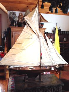 Classic British gaff rig cutter with a flying fishermans top sail : Z, Christibys