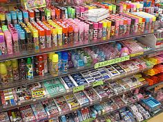 Japanese School supplies: bright, colorful, mildly whimsical and needed to survive