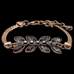 Pilgrim Pleased Bracelet Rose Gold Plated Grey 23153-4002