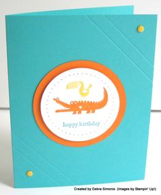 Zoo Babies in a Circle : Deb's Stampin' Grounds.... (a place that inspires creativity in others) http://www.stampinup.net/esuite/home/debrasimonis/blog