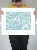 The Map of Paris print @ Minted