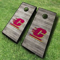 Let the fun commence with this officially licensed NCAA Central Michigan Chippewas cornhole game set.  The cornhole boards, featuring the...