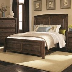 Love this dark wood bedroom set from Already Furnished!