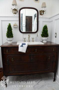 Master Bathroom - Vintage dresser