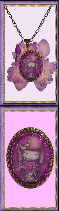 25 € ❄ B019 ❄ VENTE EN LIGNE sur ALittleMarket #GabyFéerie #collier #noel #asiatique #fleurs #vintage #faitmain  #FJV_Jewelry #necklace #christmas #asian #flower #vintage #handmade