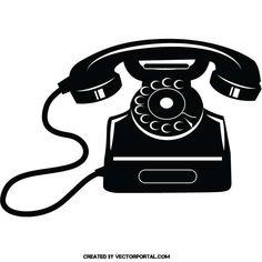 Vintage telephone vector image.
