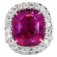 1STDIBS.COM Jewelry & Watches - Unknown - Superb No Heat 12.96ct Pink Sapphire Ring - Shreve, Crump & Low