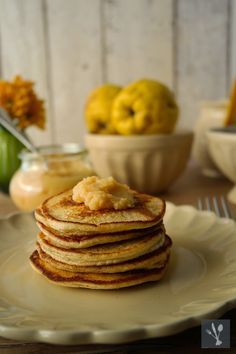 Quark-Pancakes mit Quittenmus I Pancakes with quincesauce I Sia´s Soulfood