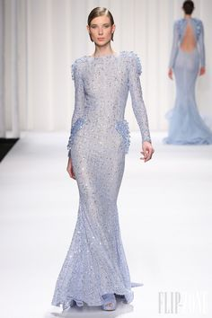 Normally I wouldn't like something like this, but... I like this... Abed Mahfouz Couture Spring Summer 2013