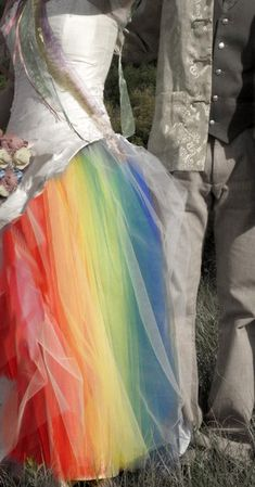 Full-spectrum Australian Rainbow Wedding Dress  Keywords: #rainbowweddings #jevelweddingplanning Follow Us: www.jevelweddingplanning.com  www.facebook.com/jevelweddingplanning/