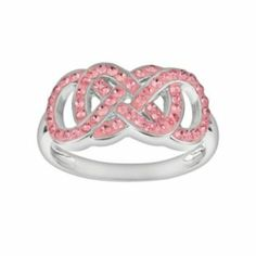 Silver-Plated+Pink+Crystal+Double+Infinity+Ring