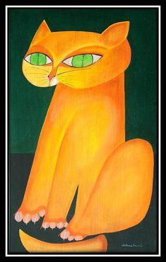 """Gato Amarelo"" - Aldemir Martins."