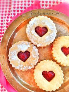Shortbread Linzer Cookies. (Gluten/Grain/Egg/Dairy/Sugar Free. Paleo & Vegan) - gluten free