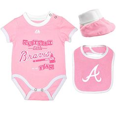 bfd4e299a734 Atlanta Braves Newborn Triple Play Diaper Set by Majestic Athletic -  MLB.com Shop  21.99