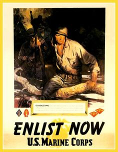 US Marines Recruiting Print World War II by BloominLuvly on Etsy, $10.00