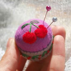Have a cherry-on-top kind of day! 🍒 . * #Miniature #pincushions are available in the shop! . #makingpeoplehappy #thecraftdesk #handmade #feltcraft #cherry #cherries #cherryontop #minipincushion #bottlecap #pins #miniaturepincushion #bottlecappincushion #recycle #sewing #lovesewing #lovehandmade #makersgonnamake #etsy #etsyuk #etsyshop #etsyseller #etsyfinds #etsylent #etsymagazine