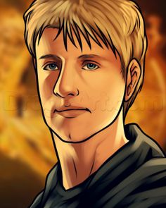 how to draw peeta easy from Hunger Games