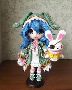 Mesmerizing Crochet an Amigurumi Rabbit Ideas. Lovely Crochet an Amigurumi Rabbit Ideas. Cute Crochet, Crochet Crafts, Crochet Baby, Crochet Projects, Crochet Amigurumi Free Patterns, Crochet Doll Pattern, Knitted Dolls, Crochet Dolls, Anime Crafts