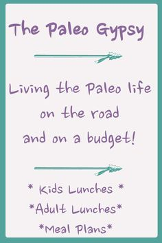 Paleo meal plans, lunchbox ideas, desserts and kids foods for people on the go and on a budget!