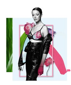 Personal art work. - Collage by Me - Model: Milagros Schmoll by Jason Kim. #MilagrosSchmoll #Collage #ArtWork