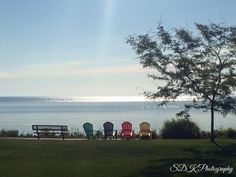 Looking out onto the Bay in Menominee, Michigan.