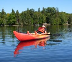Relaxing and canoeing on one of the 600 lakes in Haliburton Highlands.