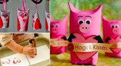 10 bricolages d'enfants pour la Saint-Valentin, à faire avec des rouleaux de papier toilette ! - Des idées