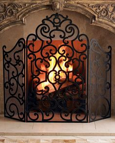 Shop Classic Fireplace Screen at Horchow, where you'll find new lower shipping on hundreds of home furnishings and gifts. Classic Fireplace, Small Fireplace, Traditional Fireplace, Fireplace Mantle, Fireplace Design, Country Fireplace, Craftsman Fireplace, Decorative Fireplace, Fireplace Bookshelves
