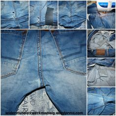 Wonderful Snap Shots fix it - repairing is sustainable # 5 Ideas I love Jeans ! And much more I love to sew my very own Jeans. Next Jeans Sew Along I am going to s Sewing Jeans, Sewing Clothes, Diy Clothes, Sewing Hacks, Sewing Tutorials, Sewing Tips, Recycle Jeans, Leftover Fabric, Love Sewing