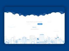 Newsletter footer by Bane Majkic Footer Design, Ui Design, Email Footer, Website Footer, Web Patterns, Sign Up Page, Best Email, Web Inspiration, Business Design
