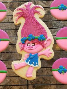 Trolls Poppy cookies for GodDaughter's 6th birthday.