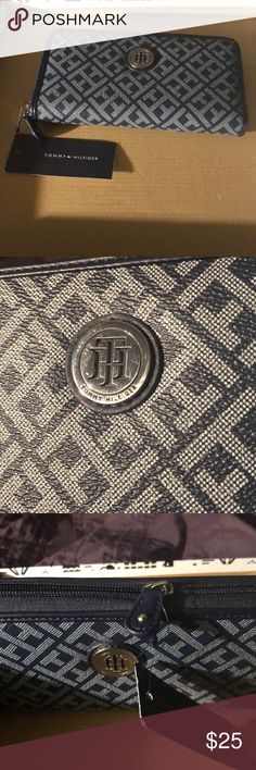 Tommy Hilfiger Zip-Around Wallet Tommy Hilfiger Medallion Serif Signature Jacquard Zip-Around Wallet  Please see last picture for wallet specifics Minor scuffs on Medallion  BRAND NEW & NEVER USED Tommy Hilfiger Bags Wallets
