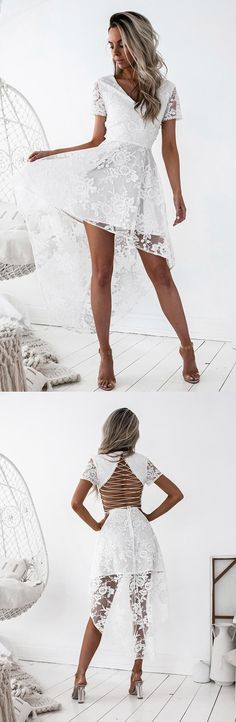 homecoming dresses,fashion homecoming dresses,lace homecoming dresses,white homecoming dresses,open back homecoming dresses,