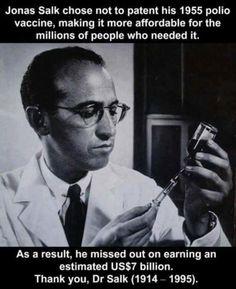 Good guy Jonas Salk