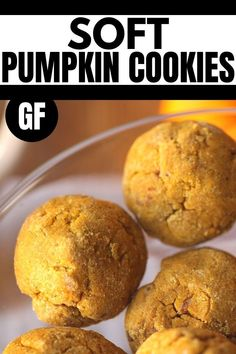 This healthy vegan pumpkin cookie recipe from Whole New Mom is so easy to make. This delicious cookie produces the perfect pumpkin flavor and is sure to be a hit with the whole family. These pumpkin cookies are also gluten-free, low carb, and paleo. They are super soft and chewy. Bake up a batch of these cookies for some fall treats for your family and friends. Vegan Pumpkin Cookies, Pumpkin Cookie Recipe, Gluten Free Pumpkin, Gluten Free Cookies, Pumpkin Recipes, Healthy Gluten Free Recipes, Gf Recipes, Vegan Gluten Free, Fall Recipes