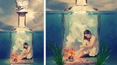 girl inside bottle photo manipulation | photoshop tutorial cs6/cc