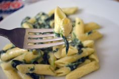 Jamie Oliver's pasta with spinach