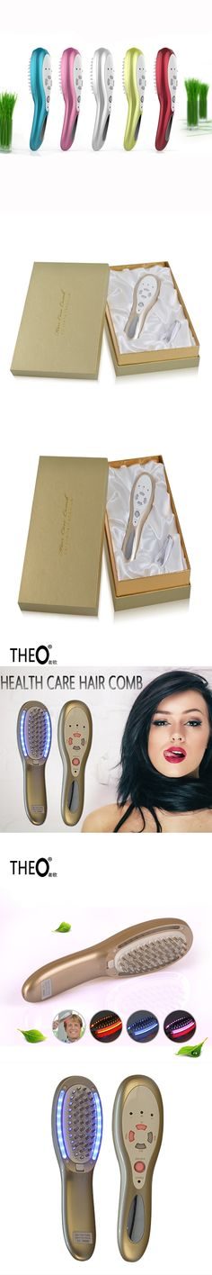 Theo New Infrared therapy Hair comb USB Charge Portable Health care Handheld remote control Combs Vibration massage HQT-1405