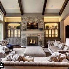 A family room which screams comfort. . . . . . . . . . . . . . . . . #familyroomdecor #familyroom #familyroomideas #livingroom #livingroomdecor #fireplace #custom #customdesign #comfortzone #comfort #homedecor #athome #home #designer #design #interiordesign #interior #interiordesigner #interiors #interiorinspo #interiorstyle #interior123 #inspiration #luxury #luxurylifestyle #luxuryhome #luxuryhomes #architecture #architectualdesign #architecturephotography @shabbychic.interiors…