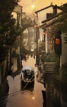 Sunset, Suzhou, China photo via christy