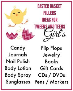 Easter basket ideas for tween and teen girls