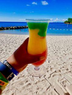 Bob Marley Rum Cocktail at Royalton Saint Lucia Resort & Spa. Caribbean Drinks, Caribbean Restaurant, Caribbean Honeymoon, Caribbean Resort, Caribbean Vacations, Caribbean Food, Royalton St Lucia, Resort Casual, St Lucia Resorts