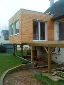 1000 images about extension maison on pinterest - Extension en bois sur pilotis ...